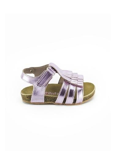 minipicco Minipicco Kız Cocuk Pembe Deri Ortopedik Destekli Çocuk Sandalet Pembe